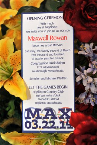 Max Olympic Invitation Front